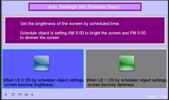 Auto. Backlight (Scheduler)
